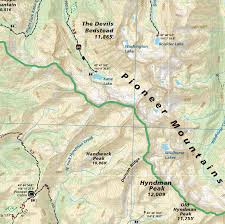 Continental Divide Map Sun Valley Trail Map Idaho Adventure Maps