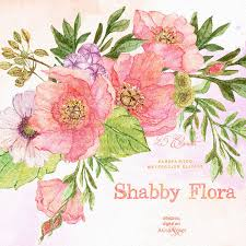 floral garland shabby flora watercolor clipart floral garland wedding invites