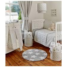 Asda Nursery Curtains George Home Grey Little Stars Bumper Set Baby Bedding Asda