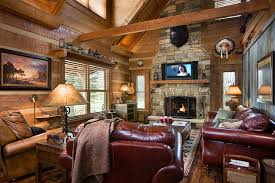 Western Room Decor Log Home With Barn Wood And Western Decor Traditional Living