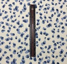 ballard designs mira blue animal leopard design basketeweave