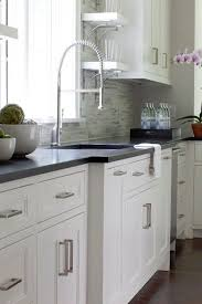 White Backsplash For Kitchen by Best 20 Dark Countertops Ideas On Pinterest Beautiful Kitchen