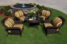 Patio Coffee Table Set by Lexington 5 Piece All Weather Wicker Conversation Table Set