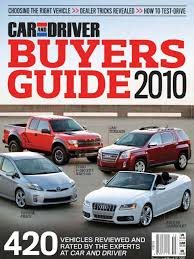 car and driver buyer u0027s guide 2010 vehicle technology
