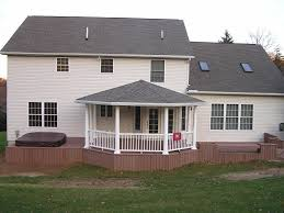 Covered Porch Plans Back Deck Designs Open Porch With Hip Roof Covered Porches