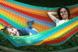double hammock from mexico with metal rings for long durability
