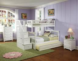 bedroom natural double trundle bed modern with kids trundle beds