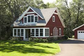 house exterior board and batten siding barn red white trim jpg