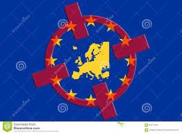 Target World Map by Terrorism Concept Europe Eu Terror Target Eu Flag Red Crosshair