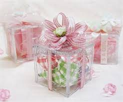 baby showers favors gift inside mica box pack big ribbon decor above ideas for