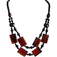natural stone statement necklace images Cascade long necklace rectangle natural stone costume jewelry uk gift jpg