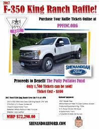 Ford King Ranch Diesel Truck - shenandoah ford 2017 truck raffle ppf inc ppf inc