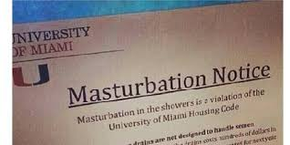 Masterbating Memes - 25 fake letters warning students not to masturbate in dorm showers