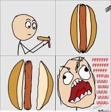 Hot Dog Meme - hot dog rage by santicapo meme center