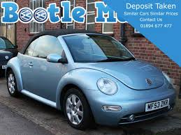 2003 volkswagen beetle blue 2 0 se convertible light blue full