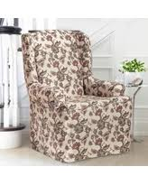Slipcover Wing Chair Great Deals On Floral Slipcovers