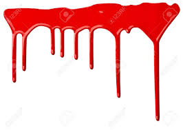 Red Paint by Close Up Of Red Paint Leaking On White Background Stock Photo