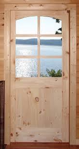 Exterior Pine Doors Rustic Doors Custom Knotty Pine 6 Lite Door Mediterranean