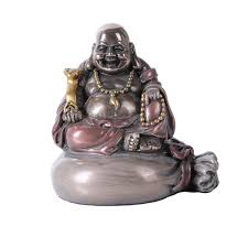 Statues For Home Decor by Lucky Buddha Bronze Resin Statue Feng Shui Prosperity