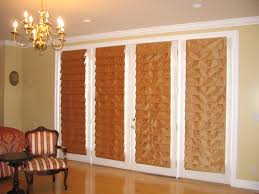 interior brown linen french door roman shade which mixed with