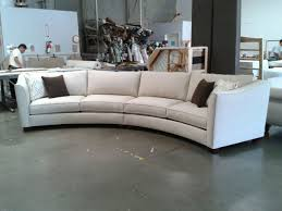 Contemporary Curved Sofa Curved Sectional Sofa Set Rich Comfortable Upholstered Fabric