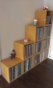 the super storage record cube from way basics solid stackable