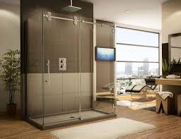 Installing Frameless Shower Doors Modern Bathroom Designs With Minimalist Frameless Glass Shower