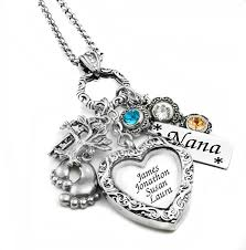personalized charm necklaces silver birthstone necklace personalized charm necklace custom