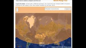 Map Of Russia And China by Russia And China Missile Range Google Map Tool How Safe Are You