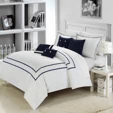 Blue And Gray Bedding Nursery Beddings Navy Blue And White Damask Bedding With Navy