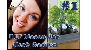 diy 1 mason jar herb garden youtube