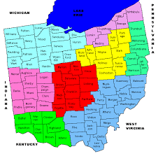 map of counties in ohio ohio map with archival districts sloan broglin ogsf