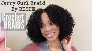 jerry curl hairstyle jerry curl braid by beshe crochet braid tutorial youtube