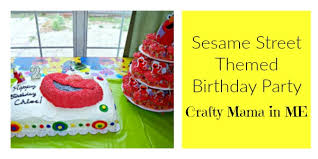 sesame birthday sesame themed birthday party crafty in me
