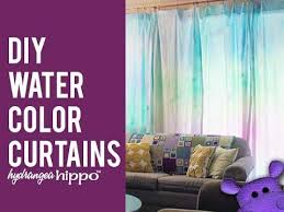 Purple Ombre Curtains Diy Watercolor Curtains With Tulip Tie Dye Youtube