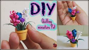 quilling miniature flower pot in 3d diy youtube