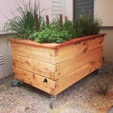 putting wheels on a raised garden planter google search
