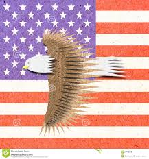 Stock Feather Flags Eagle Recycle Paper Craft With America Flag Stock Photo Image