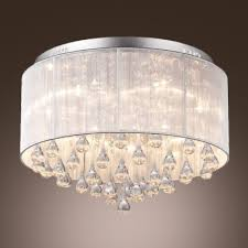 Crystal Ceiling Mount Light Fixture by Fashion Style Close To Ceiling Lights Crystal Lights