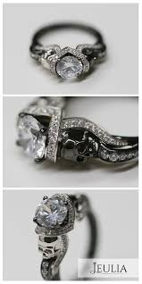 Jeulia Wedding Rings by Best 25 Skull Wedding Ring Ideas Only On Pinterest Mens Skull