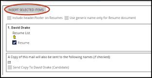 Resume Footer Sending Emails Pcrecruiter Learning Center
