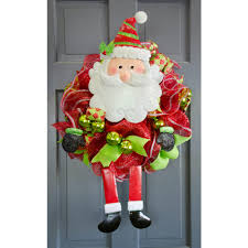Metal Father Christmas Decorations by Metal Santa Wreath Accent 9725586 Craftoutlet Com