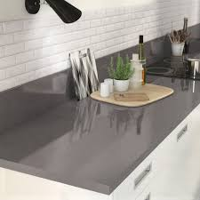 cuisine gris foncé plan de travail gris foncé galerie avec charmant plan de travail