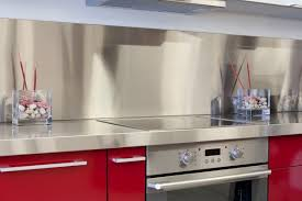 kitchens with stainless steel backsplash kitchens pink modern kitchen with stainless steel backsplash