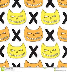 vector halloween background cats skull seamless pattern vector halloween background hipster