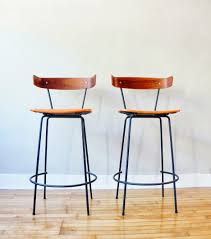 Kitchen Counter Stools Contemporary Kitchen Natural Wood Bar Stools With Backs In Earthy Tone Paint