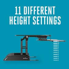 standing desk height range muallimce