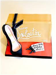 christian louboutin black high heel shoe box birthday cake cherie