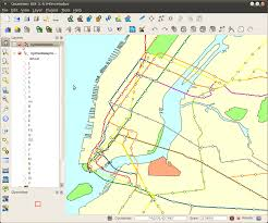 Metro Map New York by Gothos Gis Data