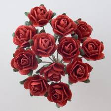 decorate your wedding venue with the beautiful red paper tea roses